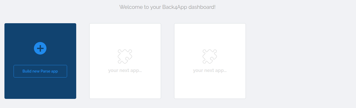 Back4App_Dashboard_Empty.png